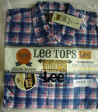 LEE TOPS Men's BLUE CHECK Casual Shirt SIZE L