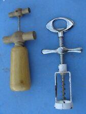 lot de 2 tires bouchon anciens à cage métallique et bois buis