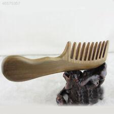 Peine de Sándalo 54DC hecho a mano Cuerno de dientes de Ancho de cuidado de  la salud de madera cepillo de pelo 8c63884fe446