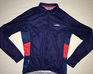 DHB Cycling Jersey Size Small Long Sleeve Red Blue Road Racing Mountain Biking