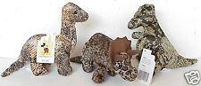 Disney World T-Rex Brontosaurus Triceratops Dinosaur Lot of 3 Bean Bag Plush Toy