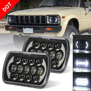 7x6 5x7'' Led Headlights Sealed Beam for Jeep YJ Cherokee XJ H5054 H6054LL 6052