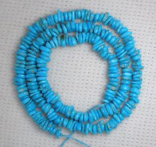 Sleeping Beauty Turquoise Chip Beads All natural 18
