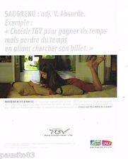 PUBLICITE ADVERTISING 085  2007  SNCF  train TGV  BILLET 0 DOMICILE  irb rugby