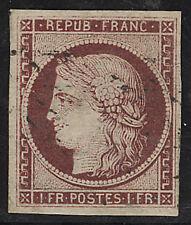 France Postage Stamp Cat #9b Used Sismondo Certificate