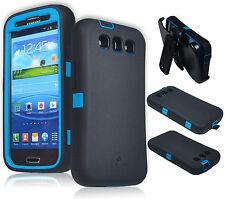 ZeroLemon Blue / Black Zero Shock Series Hybrid Case For Samsung Galaxy S3 S III