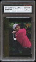 TIGER WOODS 2001 UPPER DECK UD #10 PGA/GOLF/MASTER 1ST GRADED 10 ROOKIE CARD RC