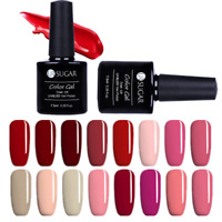 7.5ml Soak Off UV Gel Polish Pink Red  Series Nail Art Gel Varnish UR SUGAR