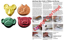 Kids Animal Mouse/Cat/Monkey/Pig Soap Mold Melt Pour Cold Process Milky Way