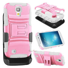 Impact Hybrid Kickstand Case + Holster Belt Clip for Samsung Galaxy S4 SGH-I337