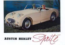 Austin-Healey Frogeye Sprite Mark 1 - Modern postcard by Vintage Ad Gallery