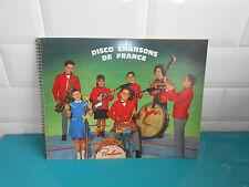 17.7.301 Album image vignette stickers disco chansons de France chocolat poulain