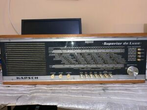 VINTAGE VÁLVULA RADIO KAPSH SUPERIOR DE LUXE PARA  RESTAURAR 1968