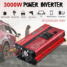 3000W Inversor Uso universal DC12V to 220V AC Power Inverter 4 USB LCD Display
