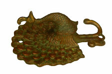 Peacock Vintage Style Brass Handmade Key Clothes Towel Wall Mounted Hanger Hook