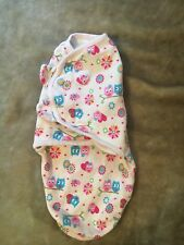 Swaddle Me Small Blanket Pink Owl