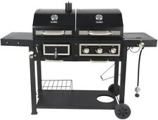 3 Burner Dual Fuel Grill Combo Charcoal Gas Grills Bbq Propane Outdoor Cooking