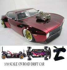Custom 1/10 Scale Remote Control On-road Drift Car RC CAMARO RED
