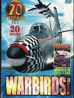 WARBIRDS! - Twenty Program Set (5-Disc Set), 5 DVDs + Bonus Free Game,New,Sealed