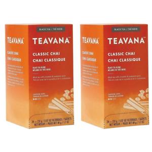 TEAVANA Classic Chai Black Tea 24 Sachets 2 pack
