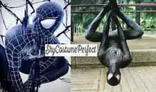 FREE SHIP Spiderman 3 Movie Black Suit Peter Parker Costume Cosplay Marvel