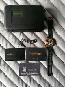 San Martin 62Mas Bronze Dive Watch Automatic Mechanical Men Watches NH35