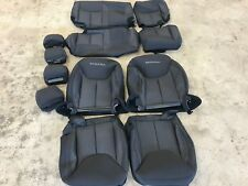 FACTORY OEM CLOTH SEAT COVERS BLACK JEEP WRANGLER UNLIMITED 4 DOOR SAHARA