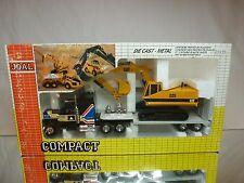 JOAL COMPACT 320 US TRUCK + CATERPILLAR CAT 225 EXCAVATOR - YELLOW 1:50 - GIB
