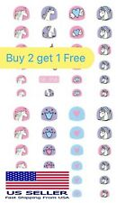 Cartoon Nail Art Stickers 3D Self-adhesive With unicorn designs for kids