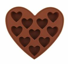 Hearts 10 cavity silicone fondant mould  sugarcraft, chocolates, wax melts