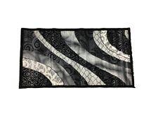 Tappeto arredo rettangolare camera da letto salotto varie misure nero grigio