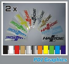 "2 x HARTGE Vinyl Decals/stickers (6"" X 2"") BMW/Mini/Range Rover Tuning"