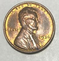 1936  BEAUTIFUL  **UNCIRCULATED**  LINCOLN WHEAT CENT  #2638