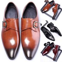 Men's Oxford Leather Shoes Wedding Dress Pointed Oxfords Casual Formal Size 6-13
