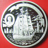 "ND (2008) COOK ISLANDS $5 SILVER PROOF ""CHRISTIAN RADICH"" NORWAY TALL SHIP RARE!"