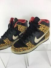 e83362bdcfaa Nike Dunk High Skinny Sneakers WMNS 8 Black Leopard Animal Print 429984-011