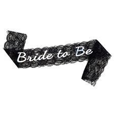 Bachelorette Bride to Be Black Lace Sash