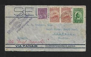 ZEPPELIN BRAZIL TO UK AIRMAIL COVER 1932