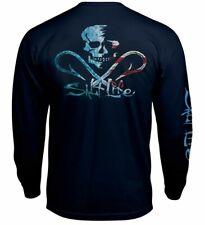 Salt Life Ameriskull Mens Long Sleeve Pocket Graphic T-Shirt - XL & Large - NWT