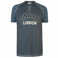 Lonsdale Marl Long Line T Shirt Mens Gents Crew Neck Tee Top Short Sleeve