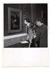 U073 Photographie vintage Originale Joconde reflet Mona lisa Muséée Vinci