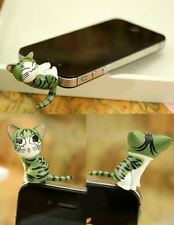 Love Sweet Naughty Cat Kitty Cute Phone Tablet Deco Anti-Dust Jack Ear Plug Gift