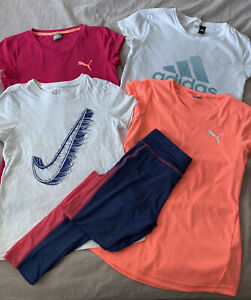 Girls Fitness Tops T-shirts Leggings 11-12 Years Nike Adidas Puma