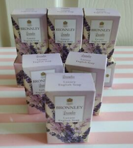 """BRONNLEY """"Lavender"""" Luxury English Soap Pack of 3 x 25g"""