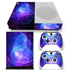 Xbox One S Skin Cool Purple Swirl Console & 2 Controllers Decal Vinyl Wrap