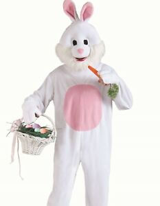 Easter Bunny Costume Adult Deluxe Plush Furry Rabbit Hare Mascot Cosplay - Fast