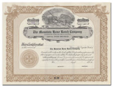 Mountain Home Ranch Company Stock Certificate (Colorado, Beavers Vignette)