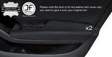 BLACK STITCH 2X FRONT DOOR ARMREST LEATHER COVER FITS AUDI A5 SPORTBACK 4 DOOR