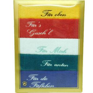 5 Seiftücher bestickt im Geschenkkarton 30x30 cm