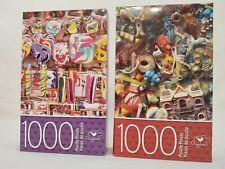Lot of 2 Cardinal 1000 Piece Jigsaw Puzzles Candy and Gumball Machine Toys NIB
